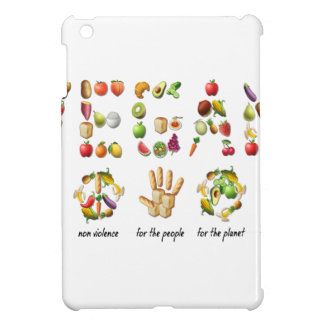 Vegan Emoji Collage Earth Animals People Peace Case For The iPad Mini