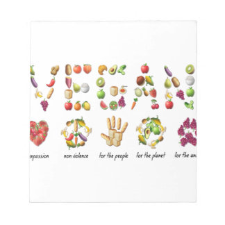 Vegan Emoji Collage Earth Animals People Peace Notepad