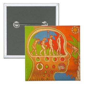 Vegan evolution swipes in 15 cm square badge