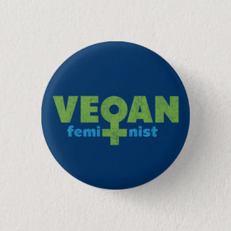 Vegan Feminist 3 Cm Round Badge