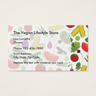 Vegan Food And Wellness Store Business Card