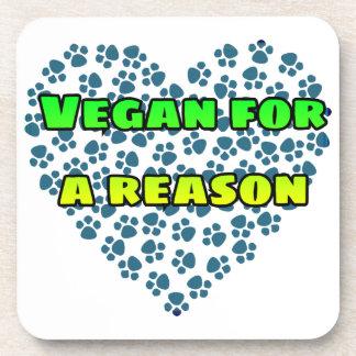 Vegan for a reason coaster