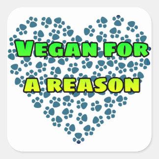 Vegan for a reason square sticker