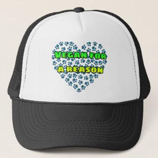 Vegan for a reason trucker hat