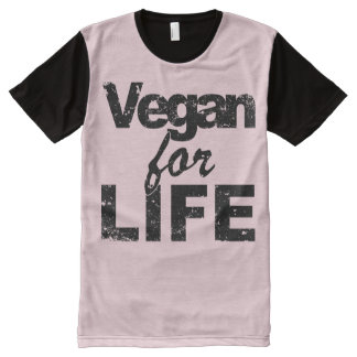 Vegan for LIFE (blk) All-Over Print T-Shirt
