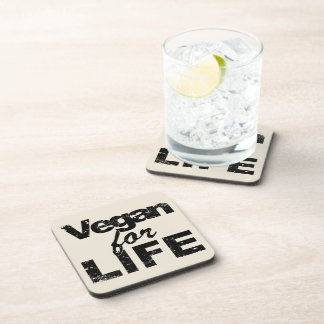 Vegan for LIFE (blk) Coaster