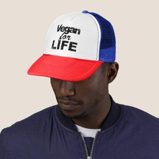 Vegan for LIFE (blk) Trucker Hat