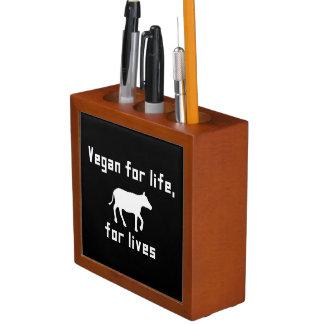 Vegan for life desk organiser