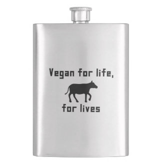 Vegan for life hip flask