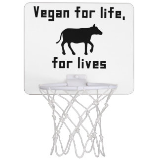 Vegan for life mini basketball hoop