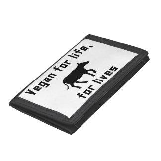 Vegan for life tri-fold wallets