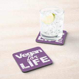 Vegan for LIFE (wht) Coaster