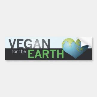 Vegan for the Earth Car Bumper Sticker