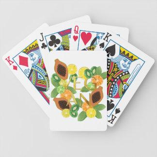 Vegan fruit bicycle playing cards