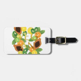 Vegan fruit luggage tag