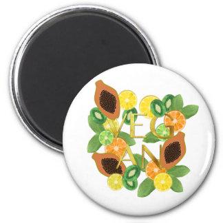 Vegan fruit magnet