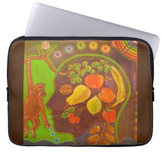 Vegan fruits computer cover computer sleeve