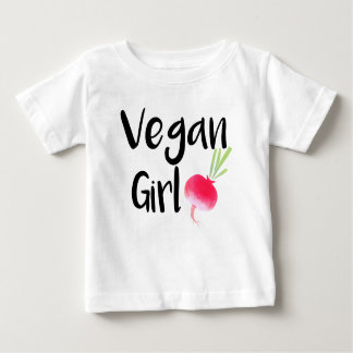 """Vegan Girl"" beets baby shirt"