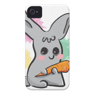 Vegan grey bunny with carrot BlackBerry Bold Case