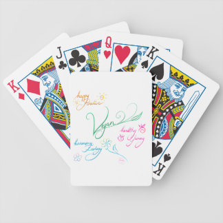 Vegan & happy lifestyle bicycle playing cards