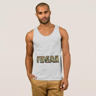 Vegan Heart Food Vegetables Funny Typography Singlet
