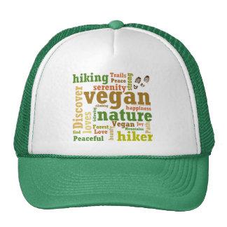 Vegan Hiker Hiking Word Cloud Cap