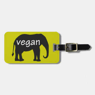 Vegan (in an elephant design) luggage tag