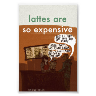 Vegan Latte Print Art Photo