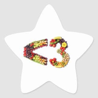 VEGAN LOVE -  <3 Smart Heart Star Sticker