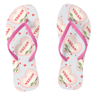 Vegan Love Flip Flops