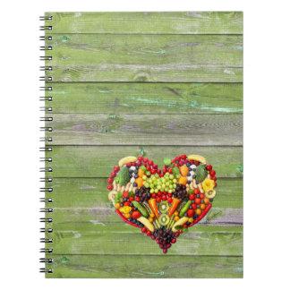 Vegan Love my heart Notebooks