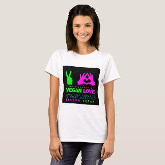 Vegan Love White T-Shirt. T-Shirt