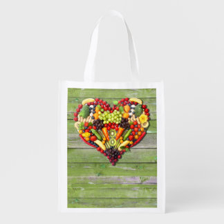 VEGAN LOVE -  your Heart Reusable Grocery Bag