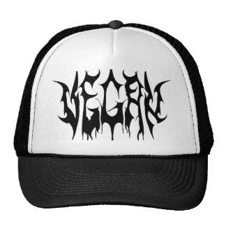 Vegan metal logo, white appare cap