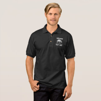 Vegan Mighty Rhino Healthy Lifestyle Cool Funny Polo Shirt