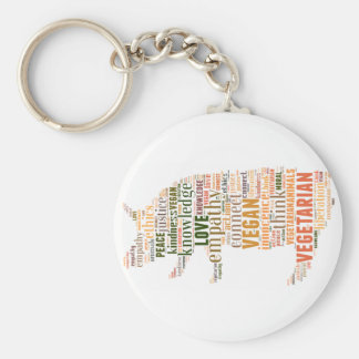 Vegan mosaic key ring