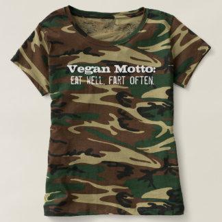 Vegan Motto: Eat well, fart often. T-Shirt