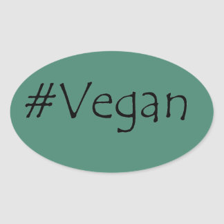 #Vegan Oval Sticker