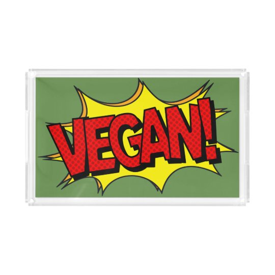 VEGAN POP ART ACRYLIC TRAY