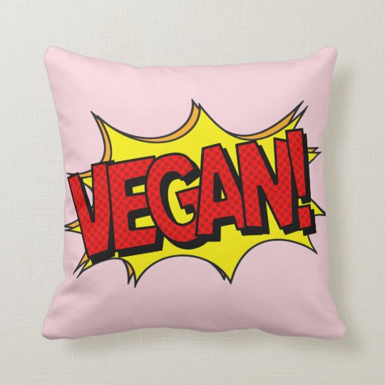 VEGAN POP ART CUSHION