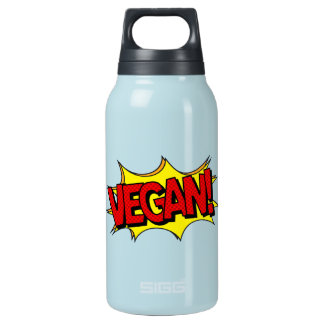 VEGAN POP ART INSULATED WATER BOTTLE