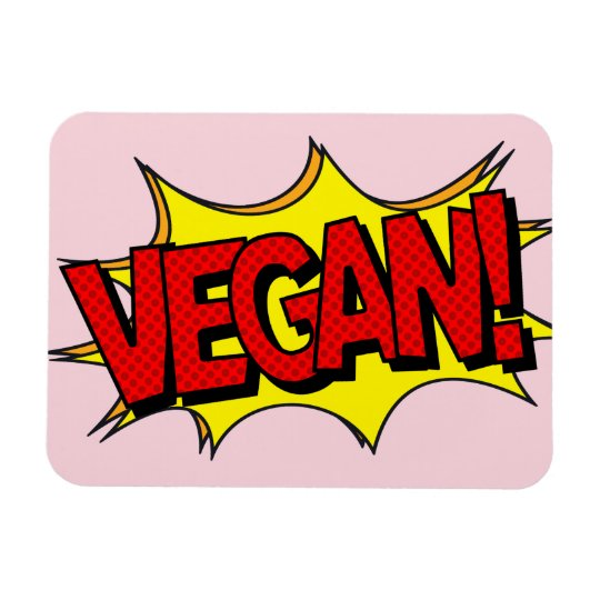 VEGAN POP ART MAGNET