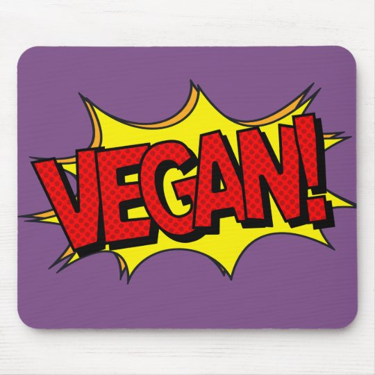 VEGAN POP ART MOUSE PAD