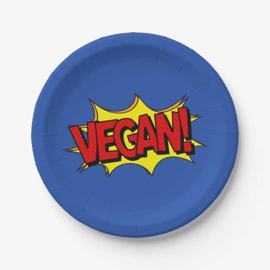 VEGAN POP ART PAPER PLATE