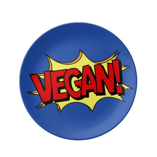 VEGAN POP ART PLATE