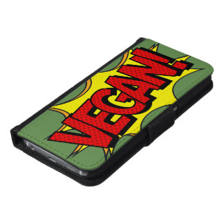 VEGAN POP ART SAMSUNG GALAXY S6 WALLET CASE