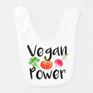 """Vegan Power"" baby bib"