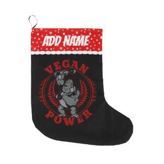 Vegan Power Bodybuilder Gorilla Large Christmas Stocking
