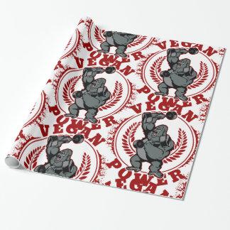Vegan Power Bodybuilder Gorilla Wrapping Paper