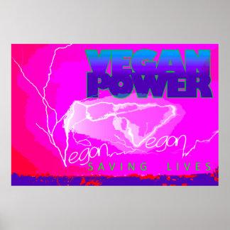 VEGAN POWER POSTER, LIGHTNING. POSTER